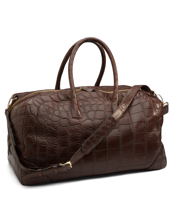 Crocodile Weekender Matte Brown