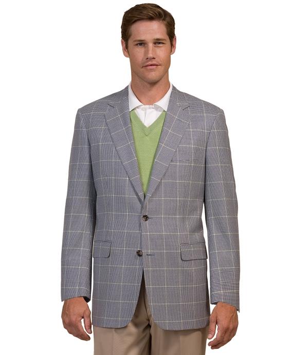 Country Club Saxxon Windowpane Sport Coat Blue