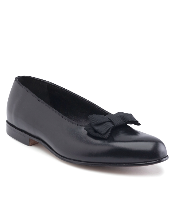 Edwardian Men's Formal Wear Calfskin Formal Bow Pumps $498.00 AT vintagedancer.com