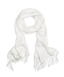 Polka Dot Jacquard Formal Scarf