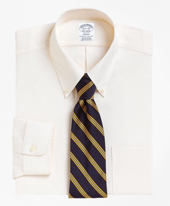 Regent Fit Button-Down Collar Dress Shirt Ecru