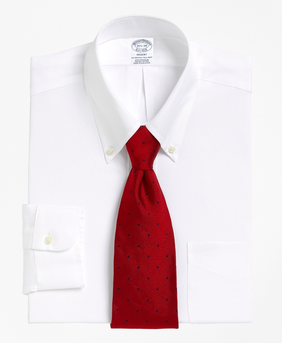 Slim Fit Button-Down Collar Dress Shirt White