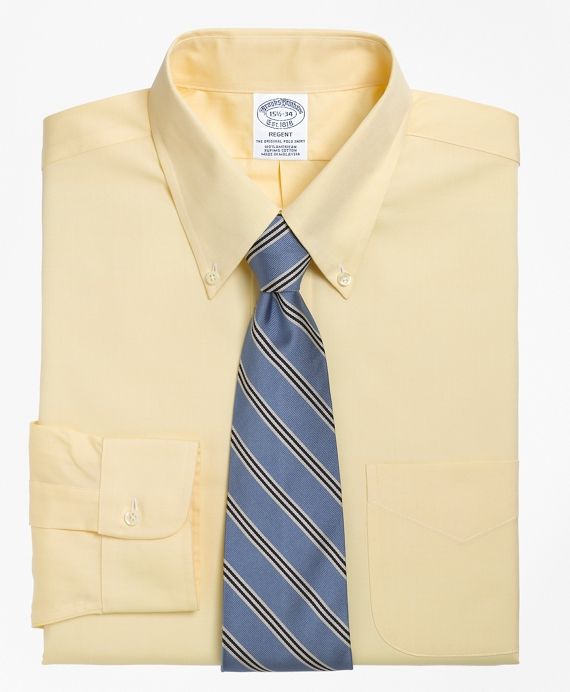 Regent Fit Button-Down Collar Dress Shirt Yellow