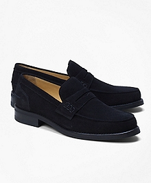 Sporty Suede Penny Loafers