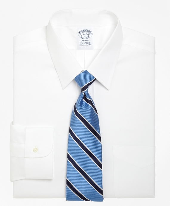 Slim Fit Point Collar Dress Shirt White