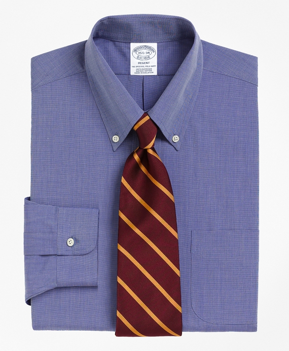 Regent Fitted Dress Shirt, Button-Down Collar Blue