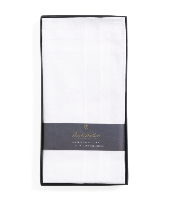 Pure Cotton Handkerchiefs - 7pk White