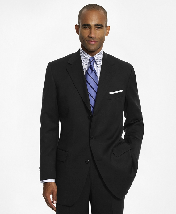 Madison Three-Button 1818 Suit Black