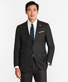 Fitzgerald Fit Saxxon Wool Herringbone 1818 Suit