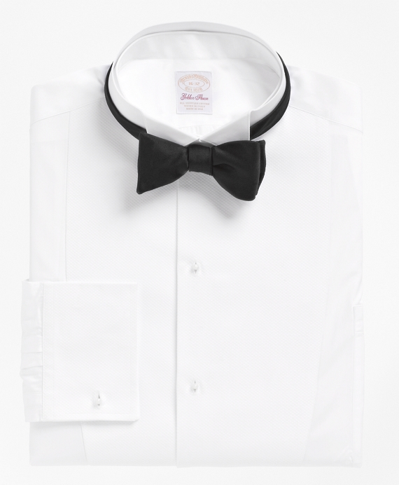 Edwardian Men's Formal Wear  French Cuff Tuxedo Shirt With Detachable Collar $225.00 AT vintagedancer.com