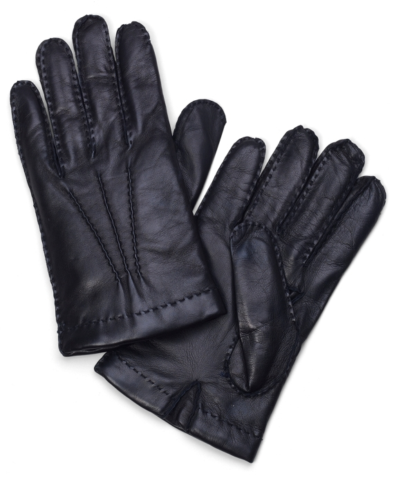 Lambskin Cashmere Lined Gloves Black