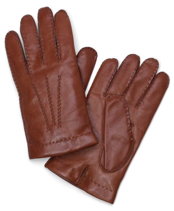 Lambskin Cashmere Lined Gloves British Tan