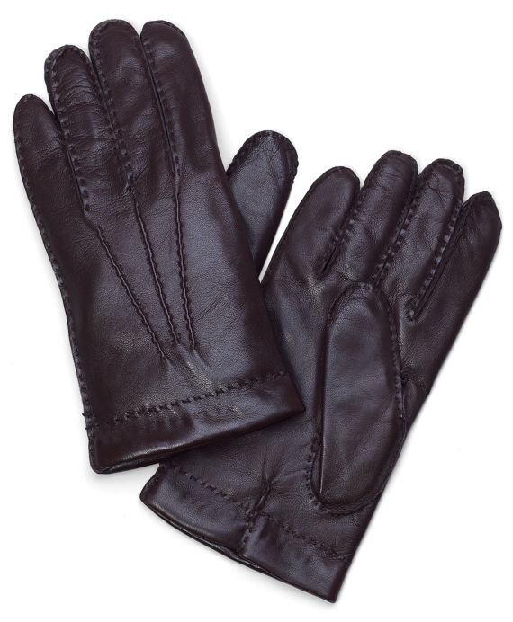 Lambskin Cashmere Lined Gloves Brown