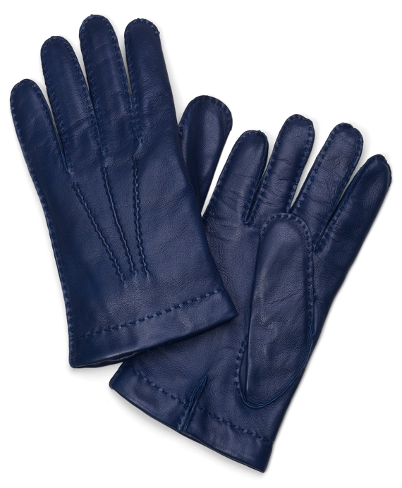 Lambskin Cashmere Lined Gloves Navy