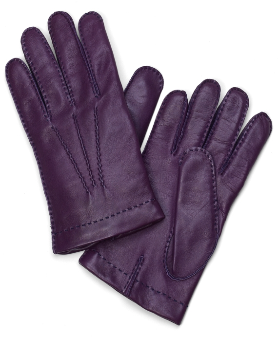 Lambskin Cashmere Lined Gloves Purple