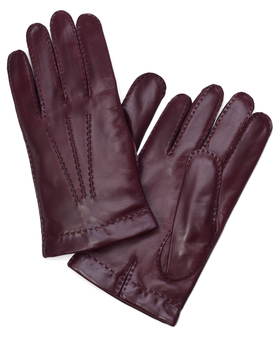 Lambskin Cashmere Lined Gloves Wine