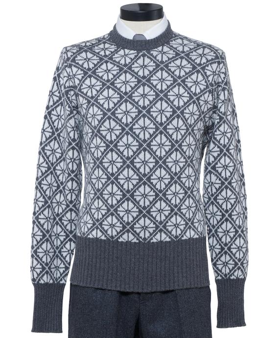 Snowflake Crewneck Sweater Grey