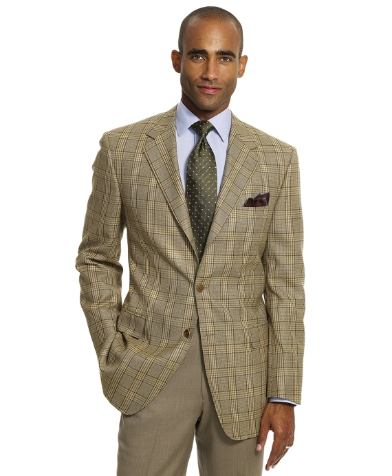Tan Plaid Sport Coat Tan
