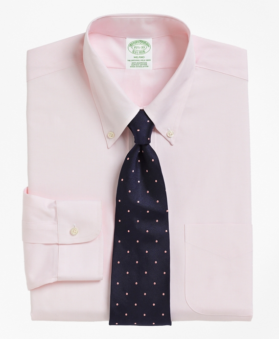 Milano Fit Button-Down Collar Dress Shirt Pink