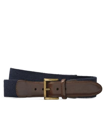 Canvas Leather Belt