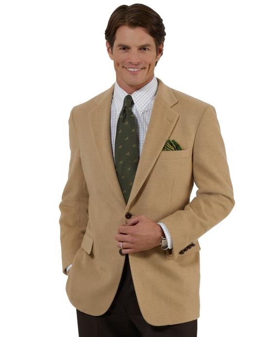 Men's Two-Button Camel Hair Sport Coat | Brooks Brothers