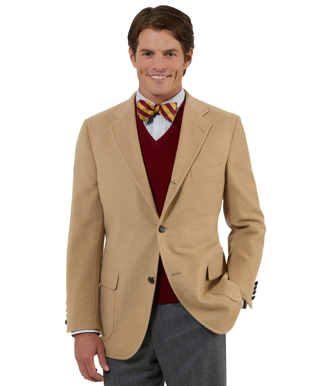 Men's Three-Button Camel Hair Sport Coat | Brooks Brothers