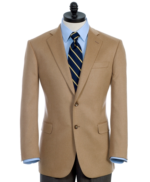 Men's Slim Fit Camel Hair Sport Coat | Brooks Brothers