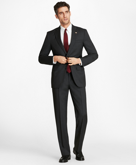 Madison Fit Two-Button 1818 Suit Grey Stripe