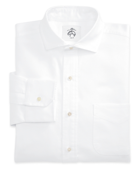 Black Fleece Spread Collar Shirt White