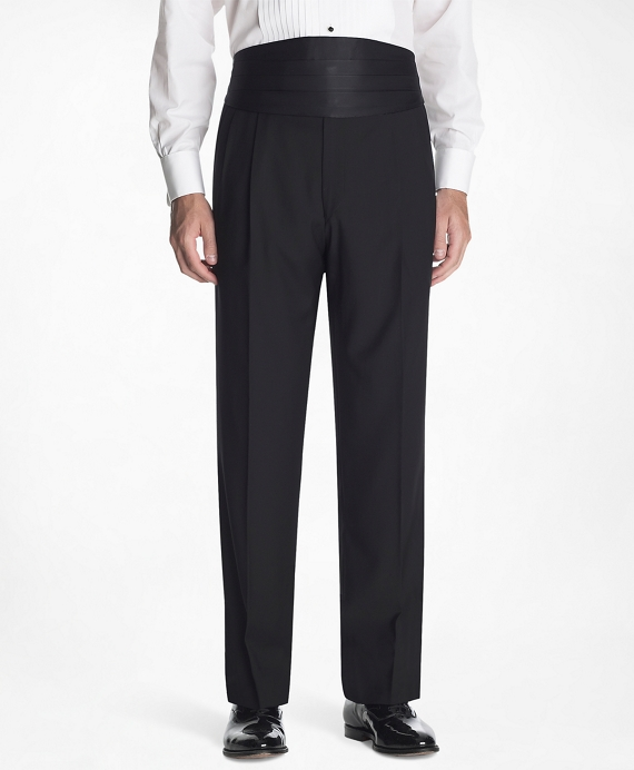 1818 Pleat-Front Tuxedo Trousers Black