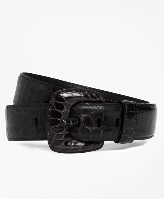 Alligator Wide Belt Black