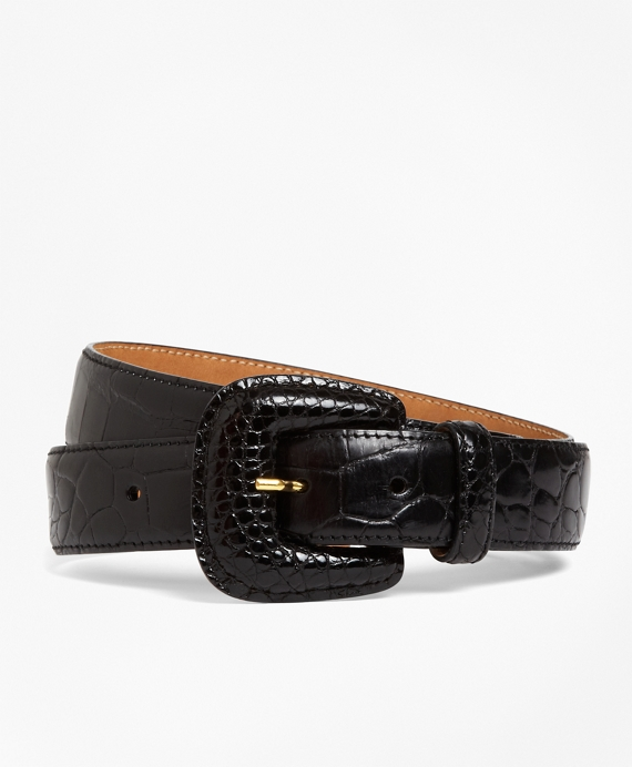Alligator Trouser Belt Black