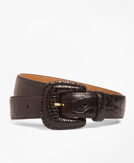 Alligator Trouser Belt Brown