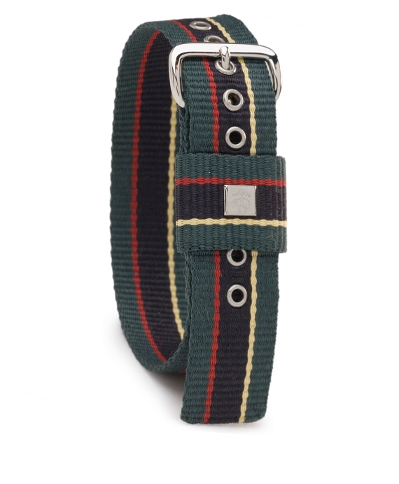 Stripe Watchband Green-Navy-Red