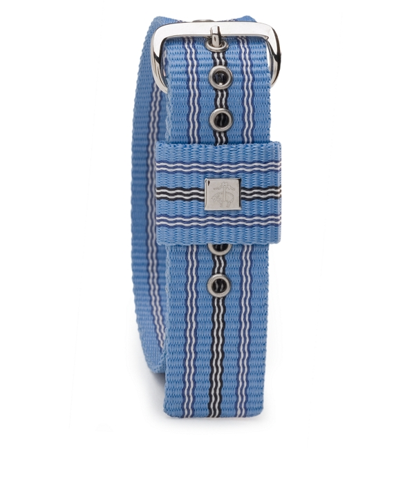 Stripe Watchband Lt Blue White