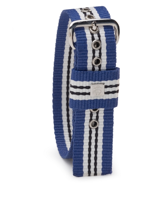 Stripe Watchband Royal-White