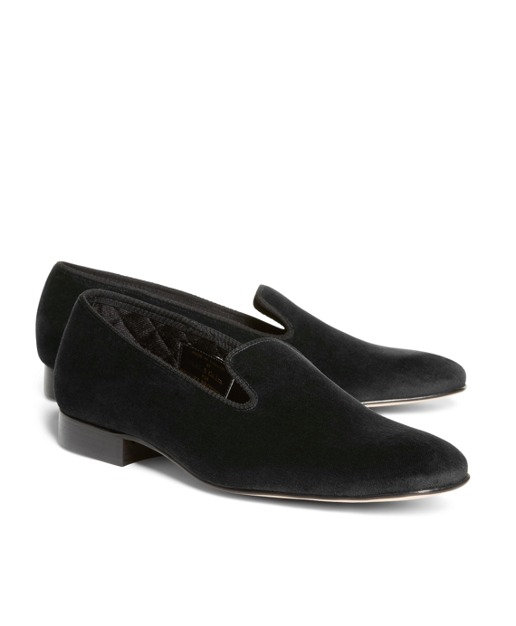 Velvet Slippers Black