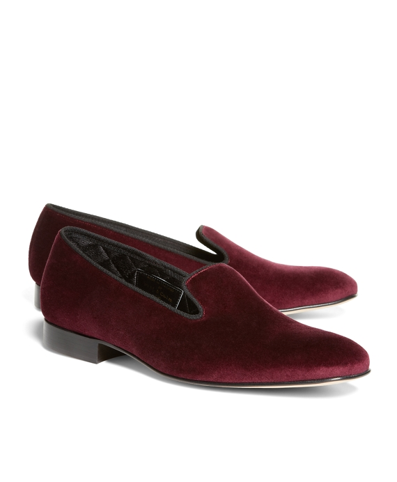 Velvet Slippers Burgundy