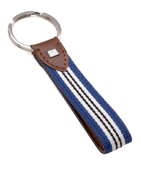 Stripe Key Fob Royal-White