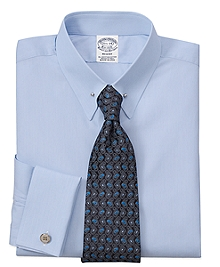 Regent Fit Hairline Solid French Cuff Dress Shirt