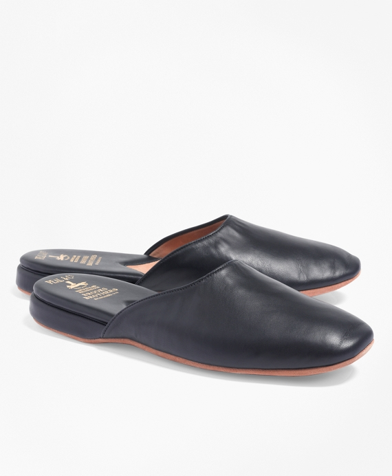 Slip On Leather Shoes Slipper