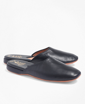 Nappa Backless Slip-On Slippers