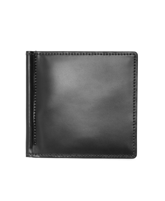 Cordovan Wallet with Money Clip Black