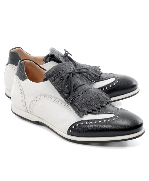 Kiltie Golf Shoes Black-White