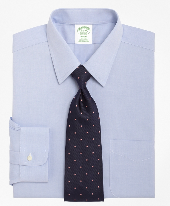 Milano Slim-Fit Dress Shirt, Non-Iron Point Collar Light Blue