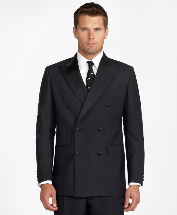 Double-Breasted Tuxedo Jacket Black