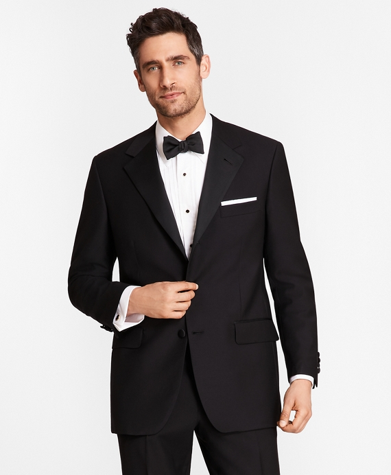 Three-Button Madison Fit Tuxedo Jacket Black