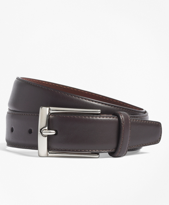 Calfskin Dress Belt Burgundy