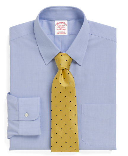 Traditional Relaxed-Fit Dress Shirt, Non-Iron Tab Collar