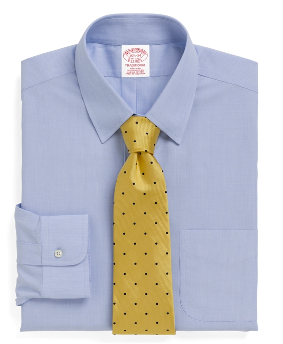 Non-Iron Traditional Fit Tab Collar Dress Shirt Light Blue